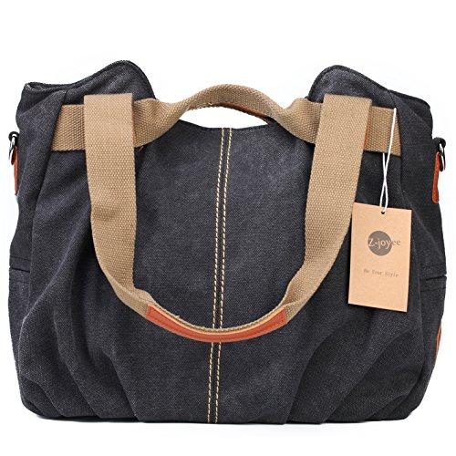 b1869231ee23 Z-joyee Women s Ladies Casual Vintage Hobo Canvas Daily Purse Top Handle Shoulder  Tote Shopper Handbag
