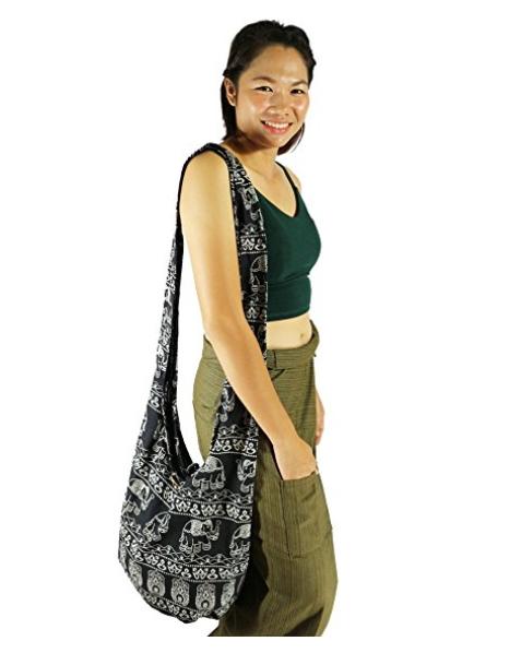 baf935789252 Lovely Creations s Hippie Boho New Elephant Crossbody Bohemian Gypsy Sling Bag  Shoulder Bag Large Size