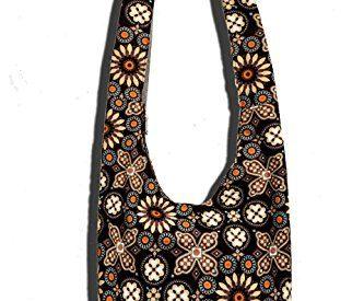 16599e5a7c Hippie Crossbody Bag Thai Top Zip Hobo Sling Bag Handmade Hipster Messenger  Bag