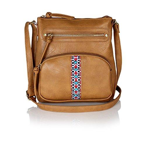 0b521a907c7e Ellie's Tribe Bohemian Tribal Aztec Vegan Leather Purse Crossbody ...
