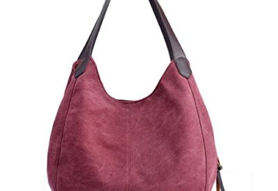 97d8755e50 Hiigoo Fashion Women's Multi-pocket Cotton Canvas Handbags Shoulder Bags  Totes Purses